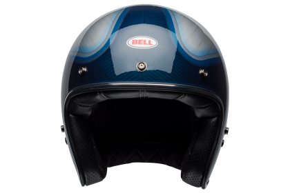BELL custom 500 CARBON blue candy Openface Helmet