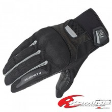 KOMINE GK-181 Protect Mesh Gloves Brocca II (Black/Silver)