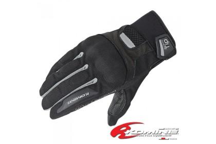 KOMINE GK-181 Protect Mesh Gloves Brocca II (Black/Silver)