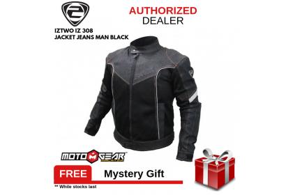 IZ2 IZ 308 Man Black Jeans Jacket