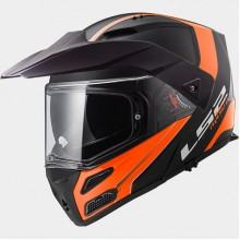 LS2 FF324 Metro Rapid Matt Black Orange Flip-Up Helmet