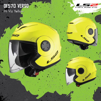LS2 OF570 Verso Technik Hi-Viz Yellow