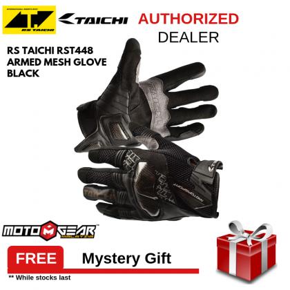 RS Taichi RST448 Armed Mesh Glove Black