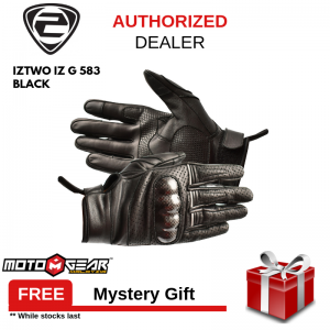 IZ2 G-583 Black Leather Glove