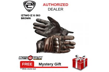 IZ2 G-583 Brown Leather Glove