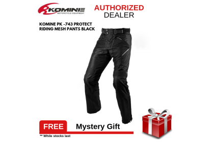 Komine PK-743 Protect Riding Mesh Pants Black