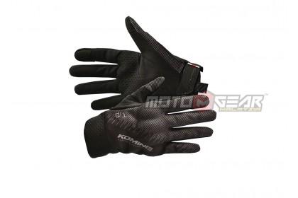 Komine KO GK-233 Protect Riding Mesh Gloves Black