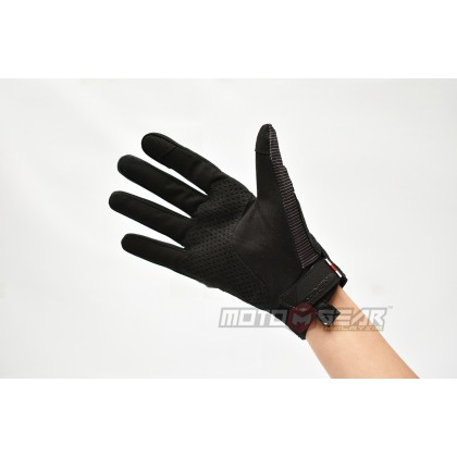 Komine KO GK-233 Protect Riding Mesh Gloves Black