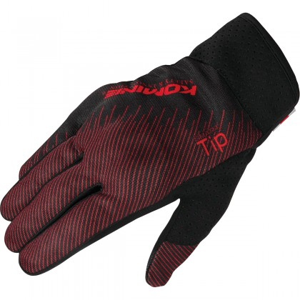 Komine GK-233 Protect Riding Mesh Gloves Red Black