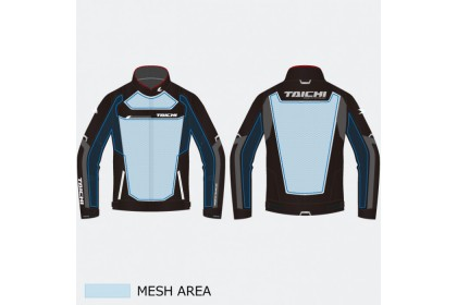 RS Taichi RSJ325 Racer Mesh Jacket Black Red